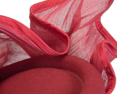 Fascinators Online - Exclusive red winter fascinator by Fillies Collection 4