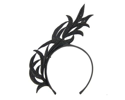 Fascinators Online - Black lace crown fascinator by Max Alexander 4