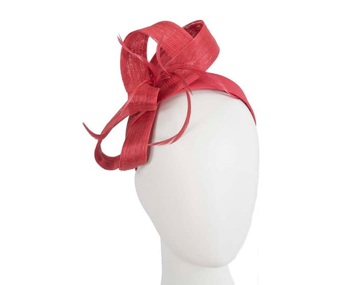 Fascinators Online - Red loops headband fascinator by Fillies Collection 1