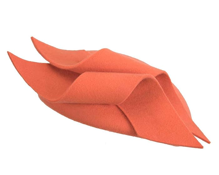 Fascinators Online - Burnt orange felt winter pillbox fascinator by Max Alexander 6