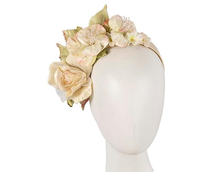 Fascinators Online - Multi-color cream flower headband by Max Alexander 1