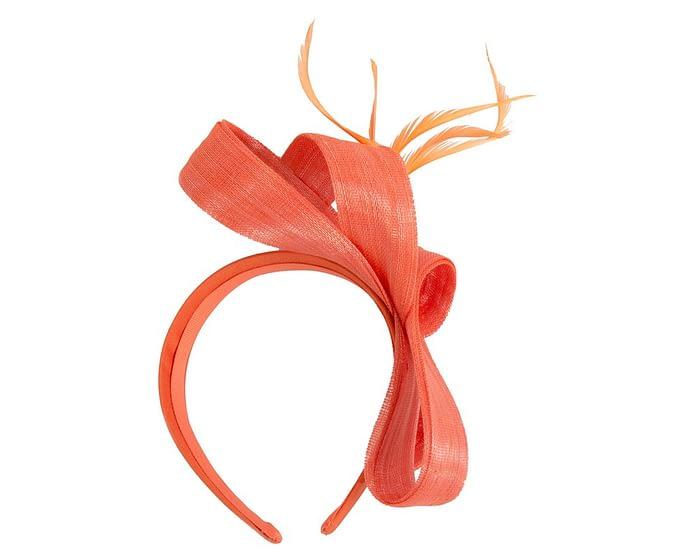 Fascinators Online - Orange loops headband fascinator by Fillies Collection 4