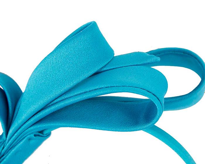 Fascinators Online - Blue bow racing fascinator by Max Alexander 3