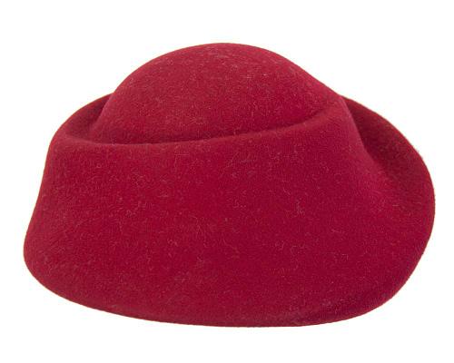 Fascinators Online - Designers red felt hat 4