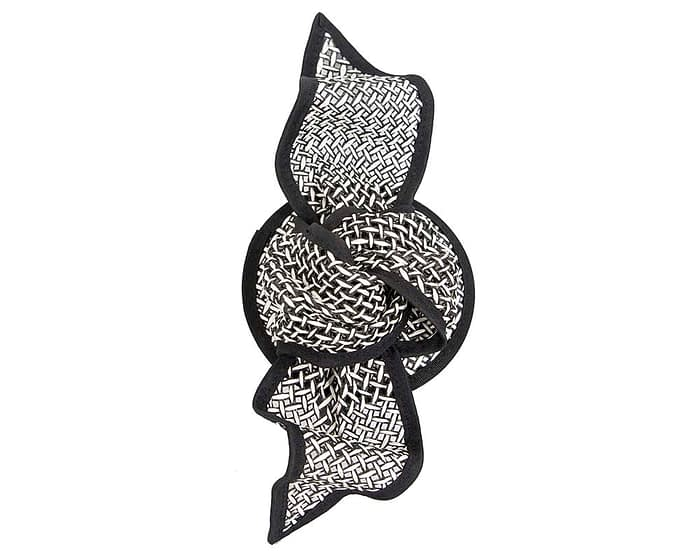 Fascinators Online - White and Black bow fascinator by Max Alexander 3