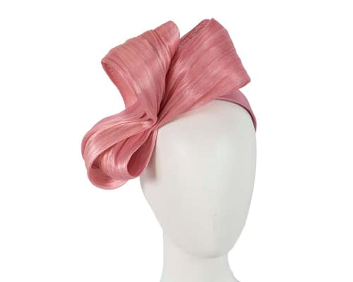 Fascinators Online - Dusty pink bow racing fascinator by Fillies Collection 1