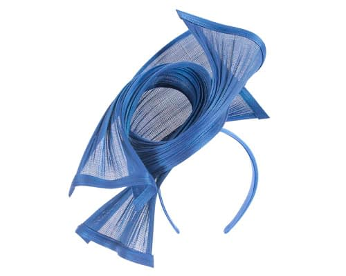 Fascinators Online - Twisted royal blue jinsin racing fascinator by Fillies Collection 2