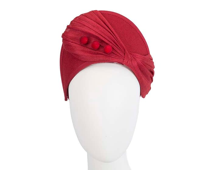 Fascinators Online - Red felt crown fascinator by Fillies Collection 1