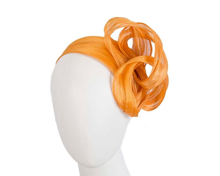 Fascinators Online - Orange retro headband fascinator by Fillies Collection 1