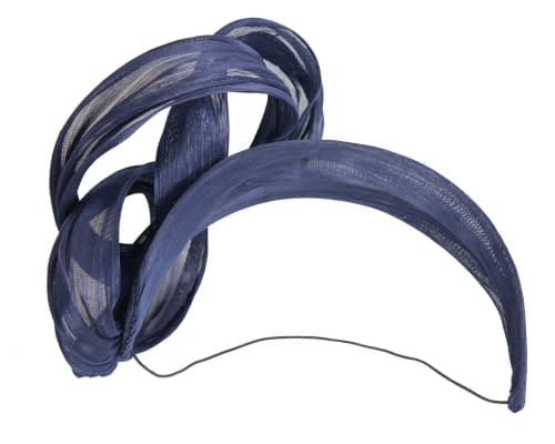 Fascinators Online - Navy retro headband fascinator by Fillies Collection 4