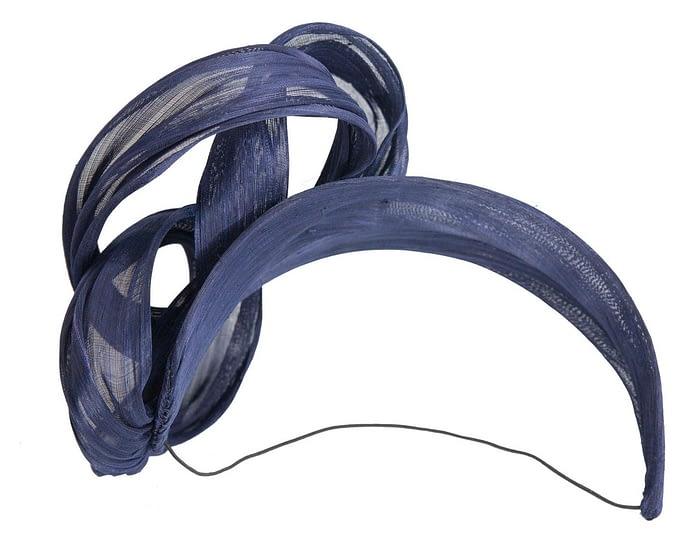 Fascinators Online - Navy retro headband fascinator by Fillies Collection 4