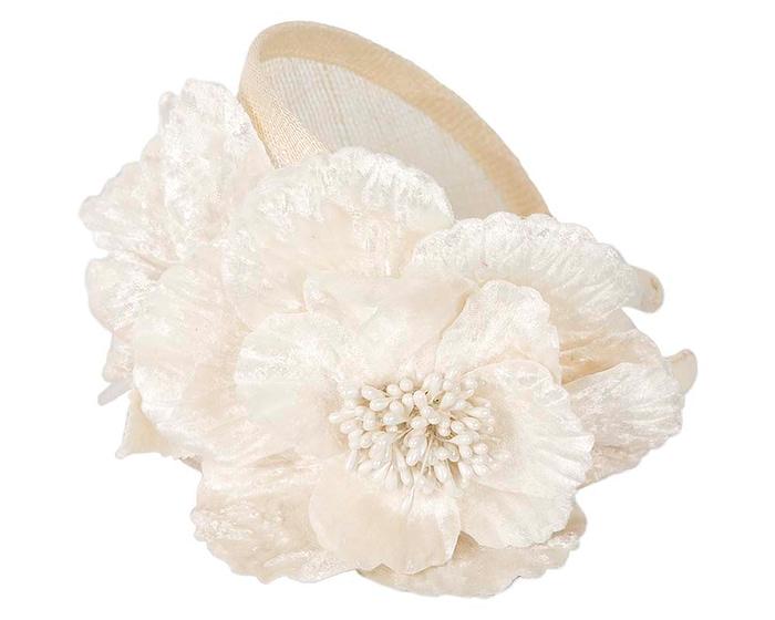 Fascinators Online - Cream flower headband fascinator by Max Alexander 3