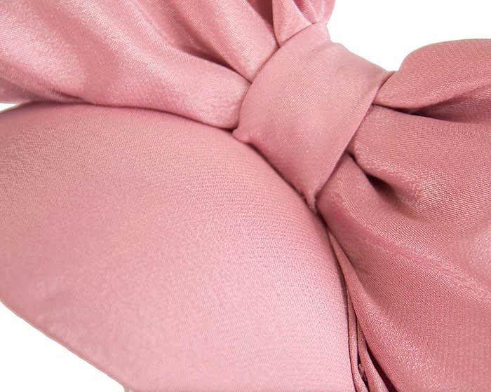 Fascinators Online - Large dusty pink bow fascinator by Max Alexander 3