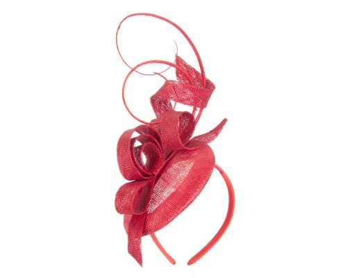 Fascinators Online - Tall Red racing fascinator by Max Alexander 2
