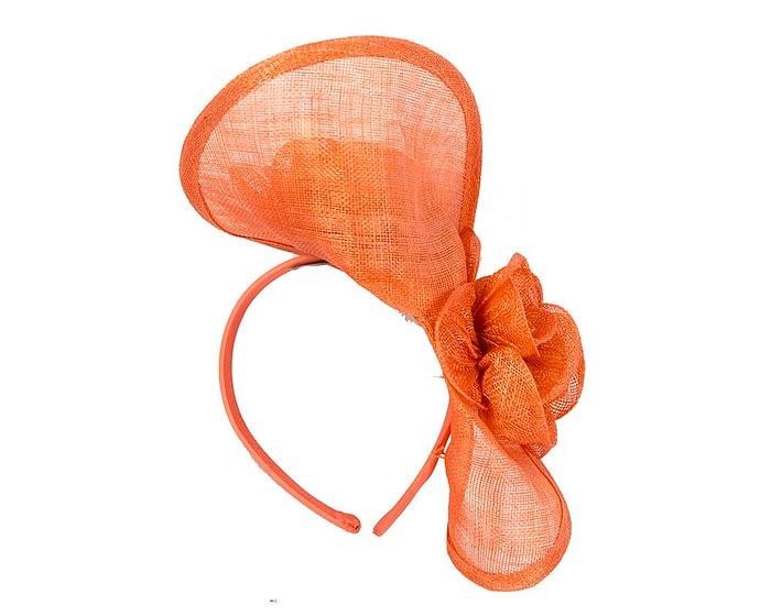 Fascinators Online - Burnt orange sinamay fascinator by Max Alexander 4