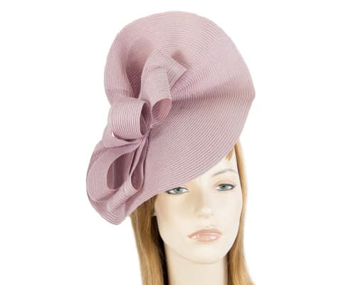 Fascinators Online - Large dusty pink fascinator with loops by Max Alexander 1