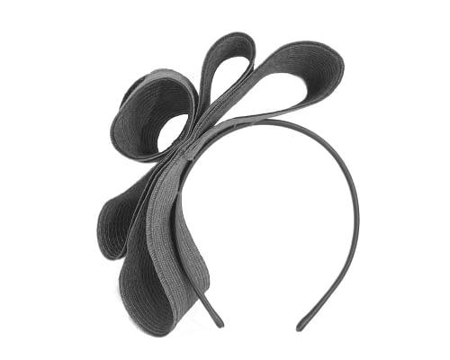 Fascinators Online - Large black bow racing fascinator by Max Alexander 4