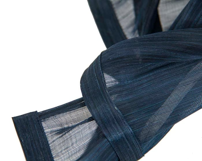 Fascinators Online - Navy twists of silk abaca fascinator by Fillies Collection 3