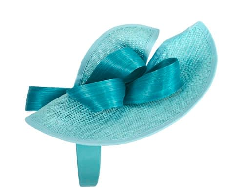 Fascinators Online - Turquoise fascinator with bow by Fillies Collection 3