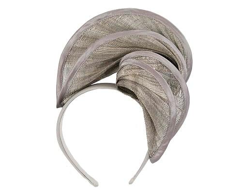 Fascinators Online - Silver headband racing fascinator by Fillies Collection 2
