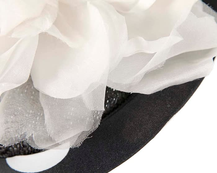 Fascinators Online - Large designers black and ivory fascinator by Fillies Collection 5