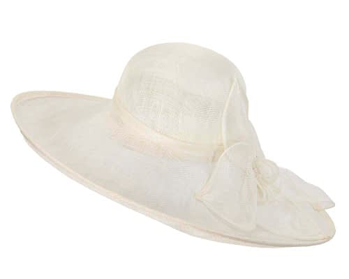 Fascinators Online - Large cream fashion hat by Max Alexander 6