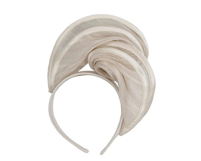 Fascinators Online - Cream headband racing fascinator by Fillies Collection 2