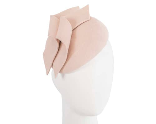 Fascinators Online - Beige felt winter pillbox fascinator by Max Alexander 58