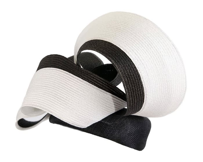 Fascinators Online - Black & white racing fascinator by Fillies Collection 3