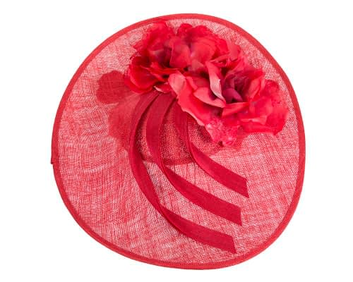 Fascinators Online - Large red plate racing fascinator by Fillies Collection 3