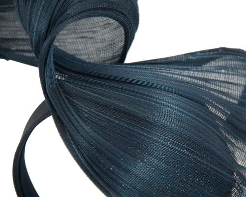 Fascinators Online - Navy twisted jinsin fascinator by Fillies Collection 3