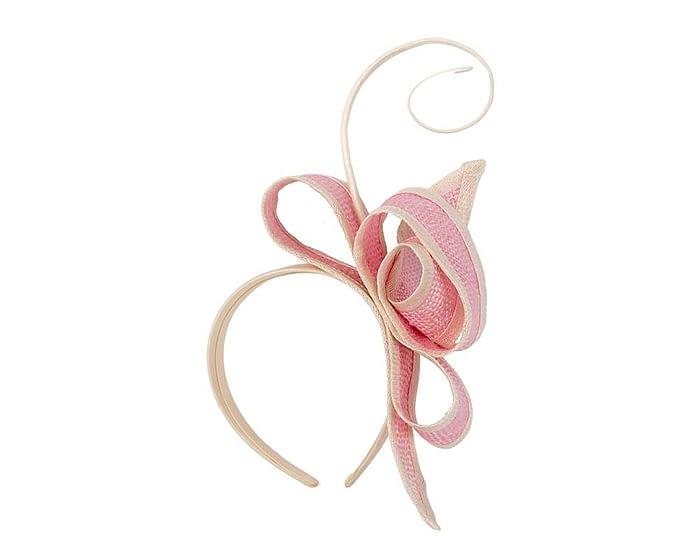 Fascinators Online - Pink Australian Made bow fascinator 2