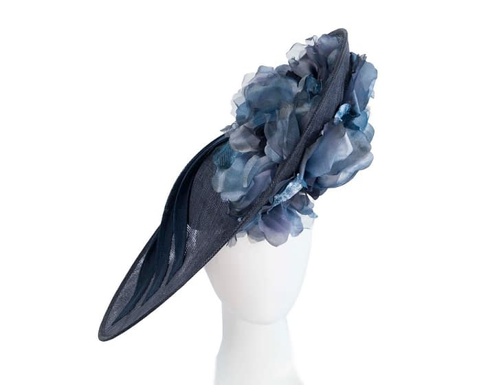 Fascinators Online - Large navy plate racing fascinator by Fillies Collection 1