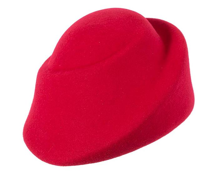 Fascinators Online - Designers red felt hat 2