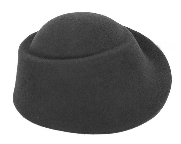 Fascinators Online - Designers black felt hat 4