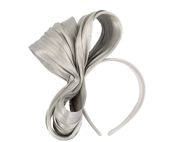 Fascinators Online - Silver bow racing fascinator by Fillies Collection 2