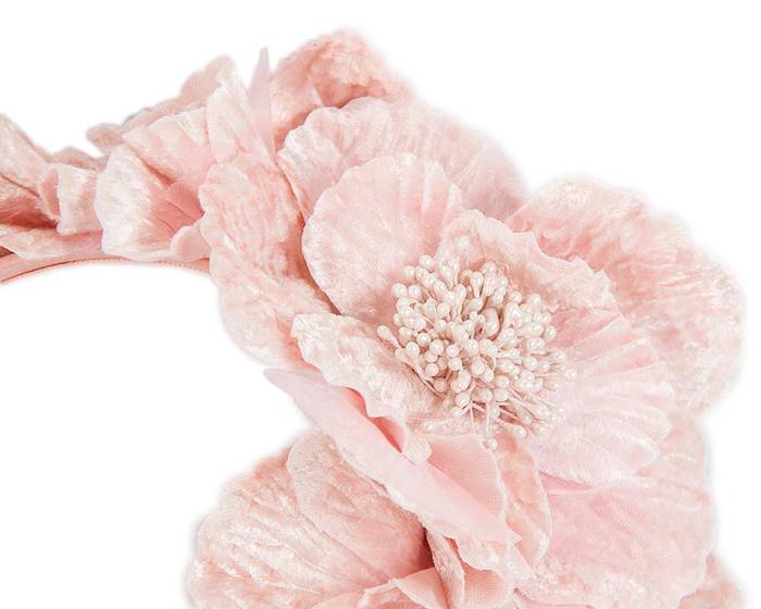 Fascinators Online - Pink flowers on the headband 3
