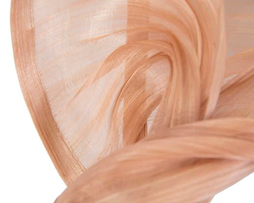 Fascinators Online - Nude twists of silk abaca fascinator by Fillies Collection 3