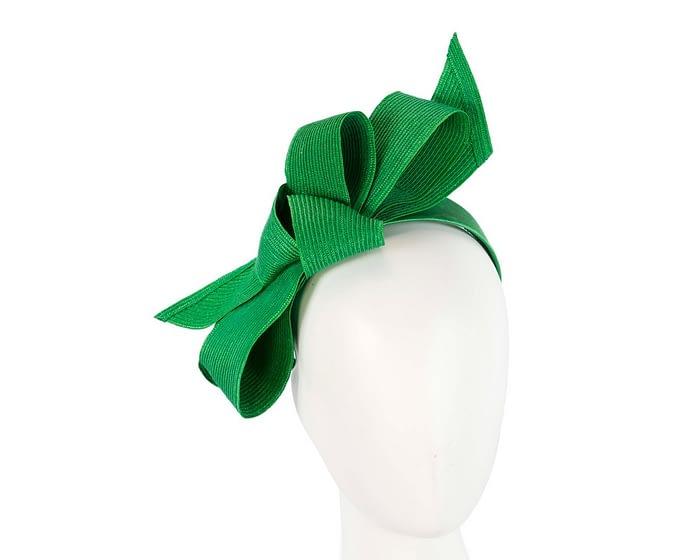 Fascinators Online - Large green bow fascinator by Max Alexander 1