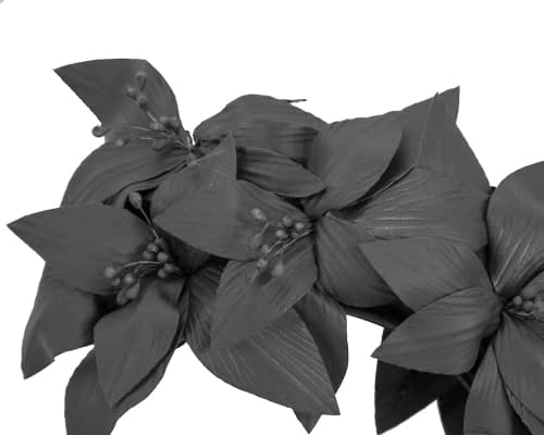 Fascinators Online - Black leather flower headband by Fillies Collection 3