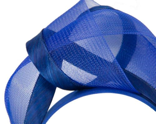 Fascinators Online - Royal blue turban headband by Fillies Collection 3