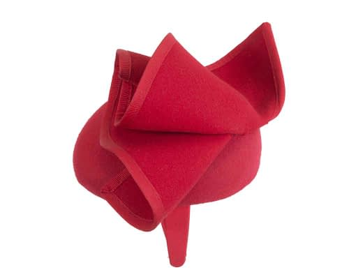 Fascinators Online - Red felt pillbox fascinator by Fillies Collection 3