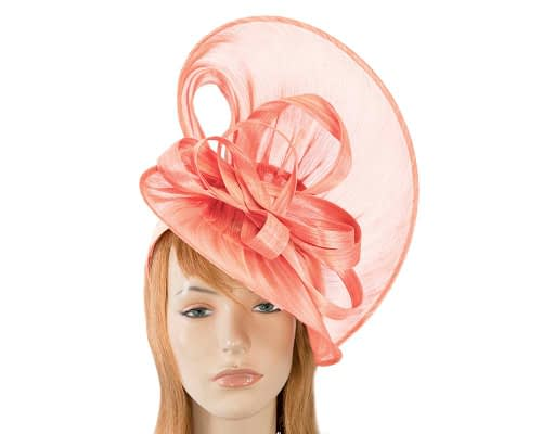 Fascinators Online - Large coral heart fascinator by Fillies Collection 1