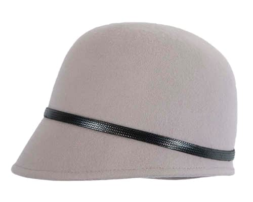 Fascinators Online - Grey felt cloche hat by Max Alexander 3