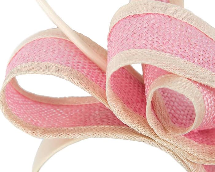 Fascinators Online - Pink Australian Made bow fascinator 3