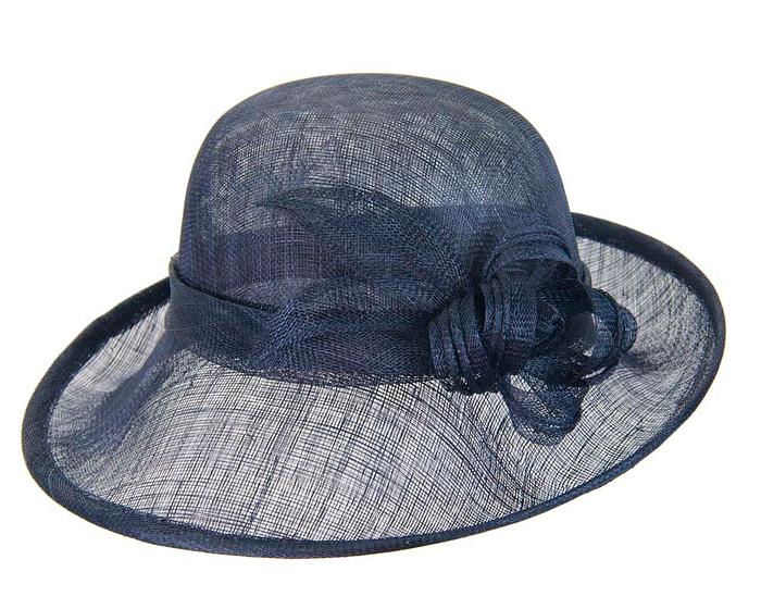 Fascinators Online - Navy cloche spring fashion hat by Max Alexander 3