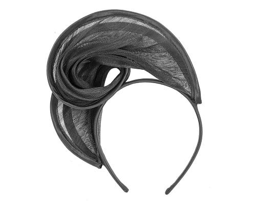 Fascinators Online - Black headband racing fascinator by Fillies Collection 4
