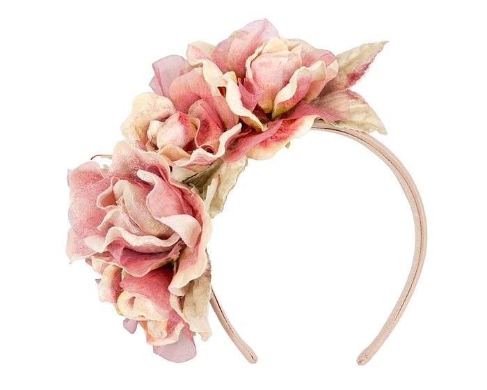 Fascinators Online - Multi-color pink flower headband by Max Alexander 2