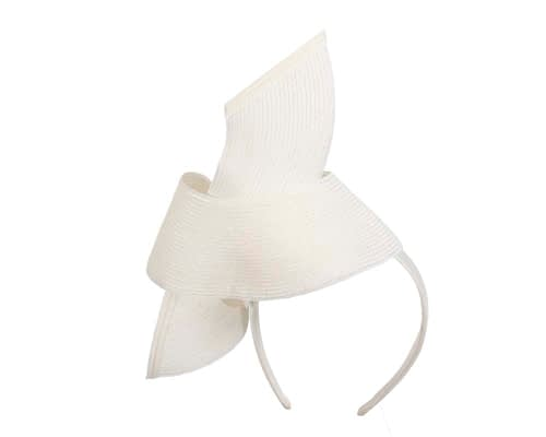 Fascinators Online - Stylish white Australian Made racing fascinator by Max Alexander 6