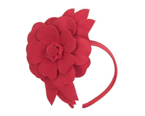 Fascinators Online - Red felt flower fascinator by Max Alexander 2